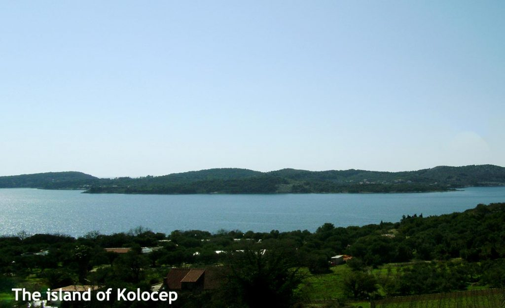 Views over Kolocep island from the Croatian mainland