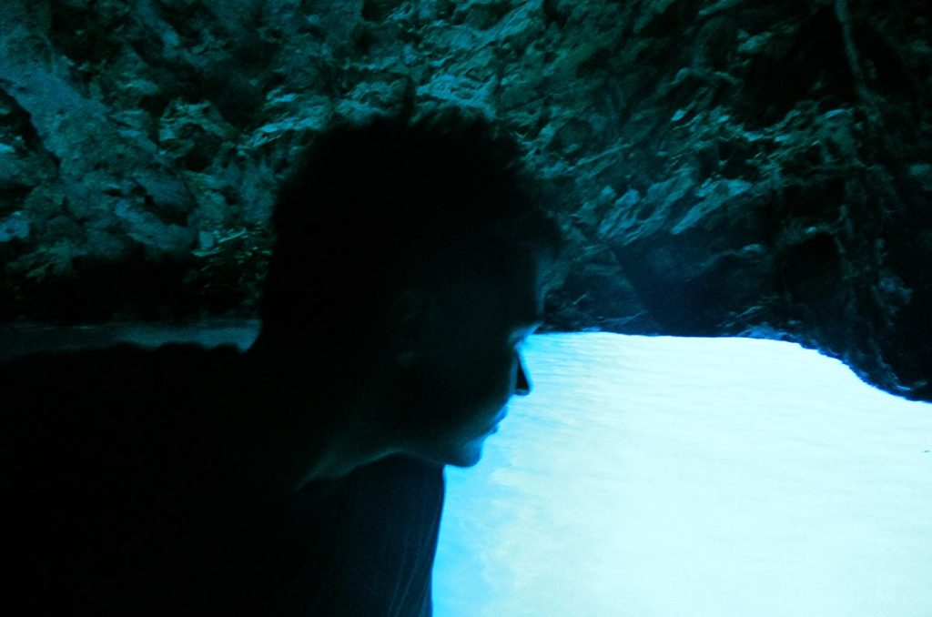 Me in Blue Cave on Bisevo
