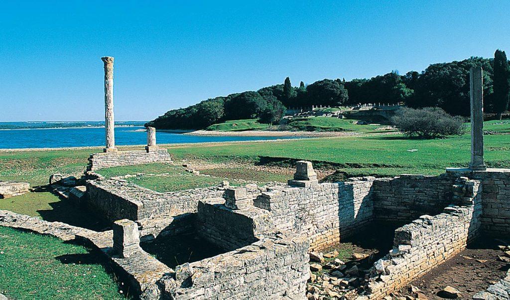 Prehistoric Roman ruins in Verige bay, Brijuni islands