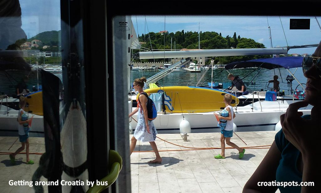 Touring around Croatia by bus is great to observe the local way of life