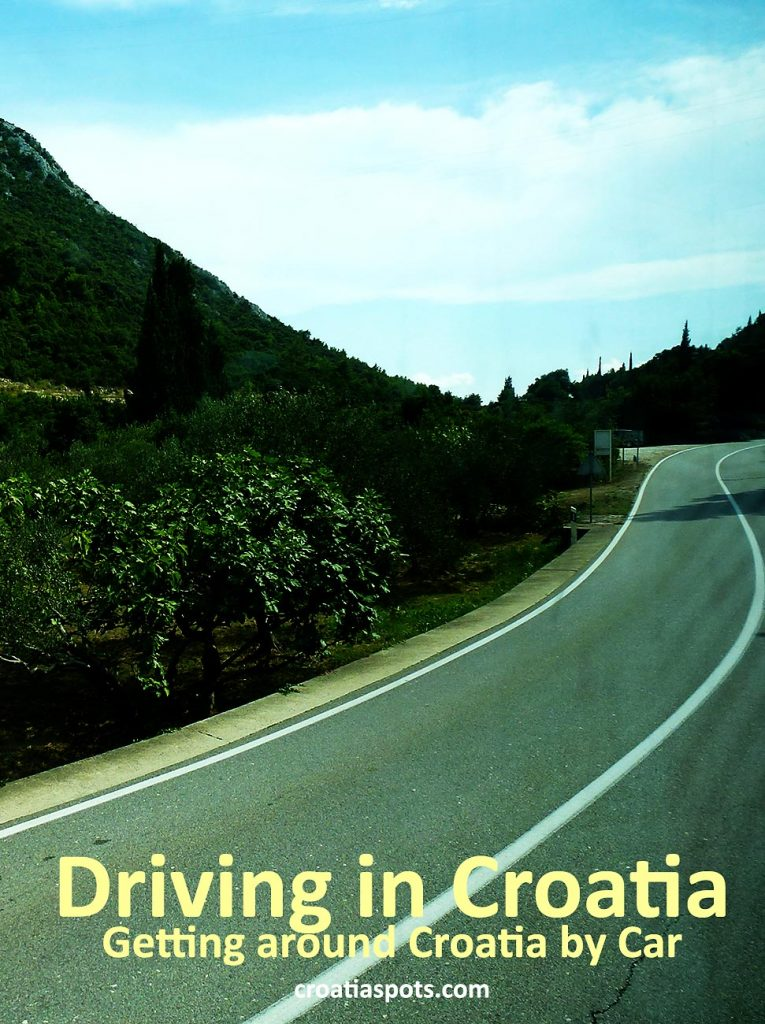 Driving in Croatia can take you along some of the most beautiful country lanes