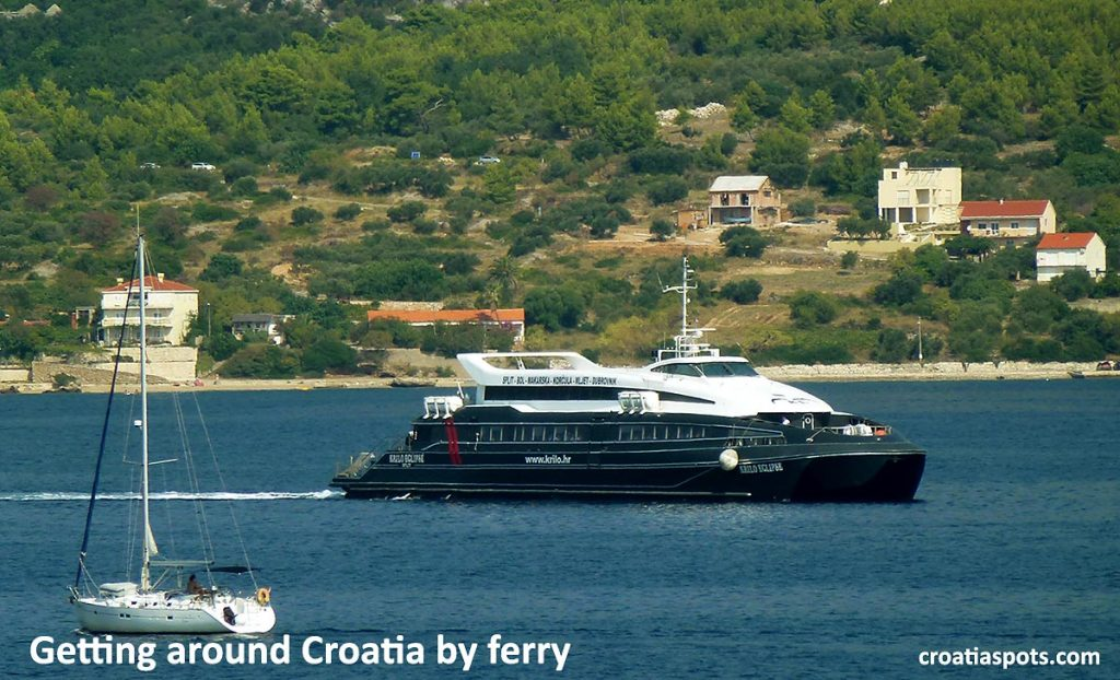 Getting around Croatia by fast ferry involves spending most of your time inside the ferry, in the air-conditioned and comfortable lounge