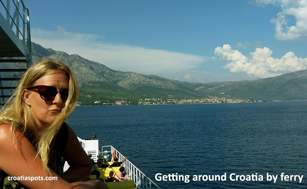 Getting around Croatia by ferry on lovely, warm summer's day