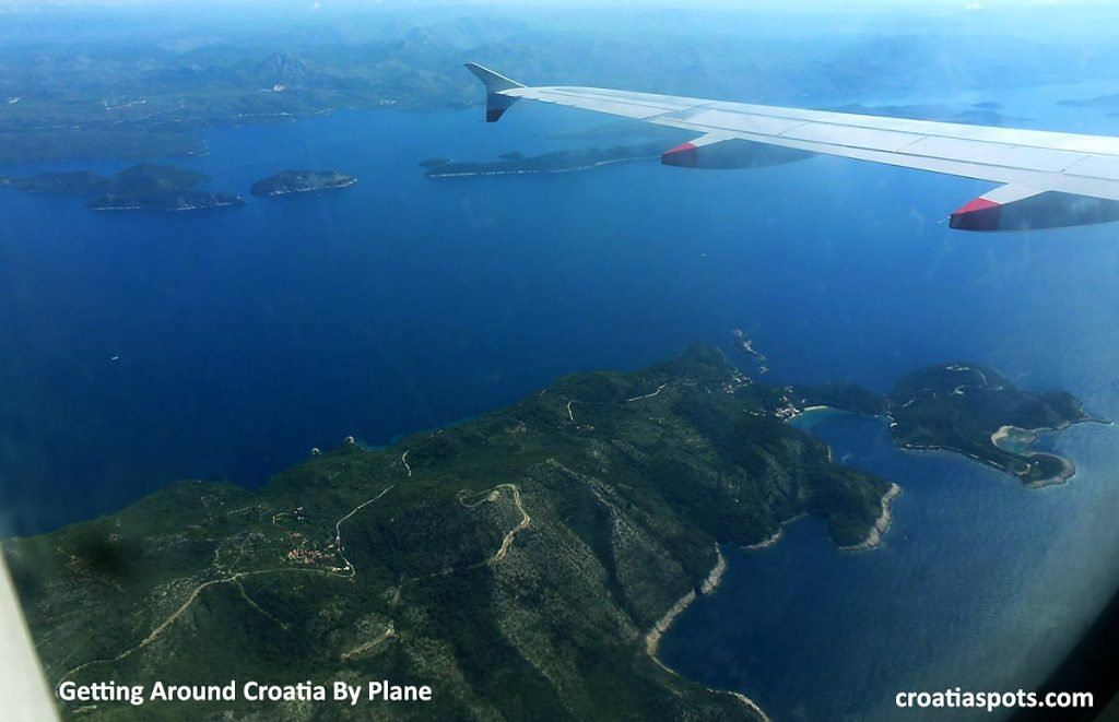 Getting Around Croatia By Plane - If you decide to take a flight in Croatia, some amazing scenery is waiting for you!