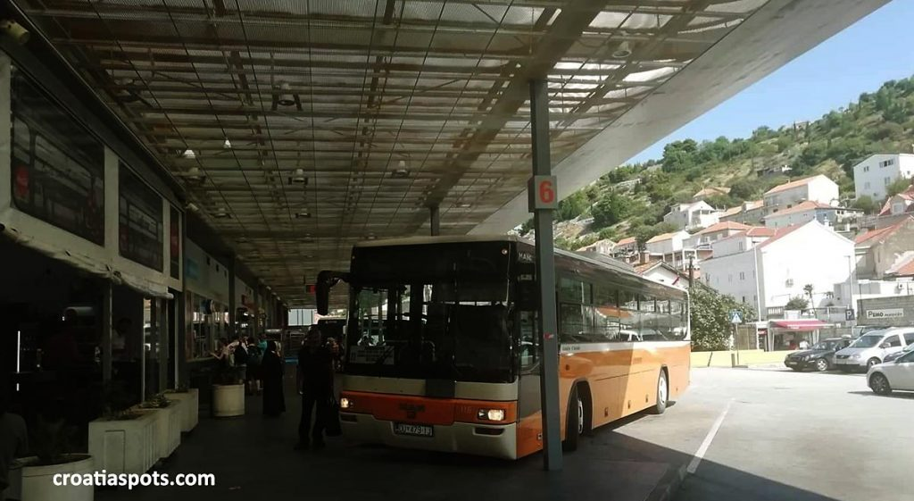 You will arrive from Greece or Albania on this bus terminal in Dubrovnik
