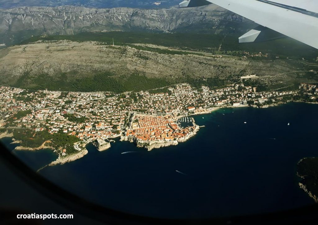 Flight to Dubrovnik, Croatia