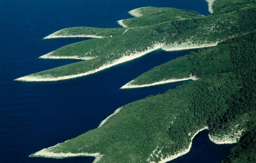 The coastline of Hvar Island - detail
