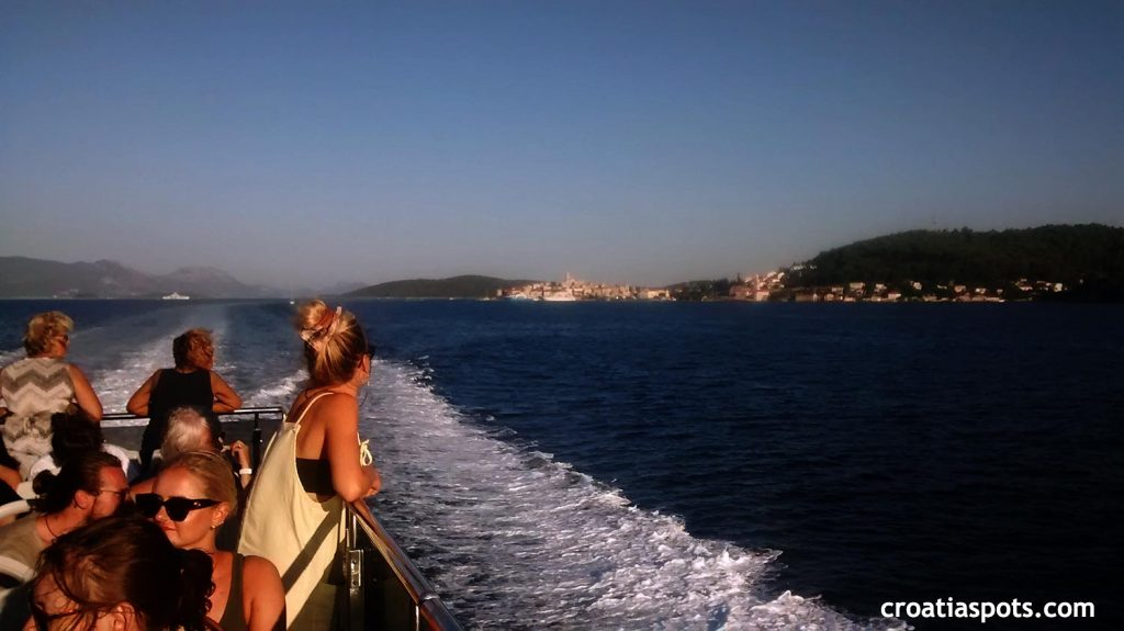 Enjoying the deck seats while passing by islands on the way from Dubrovnik to Split