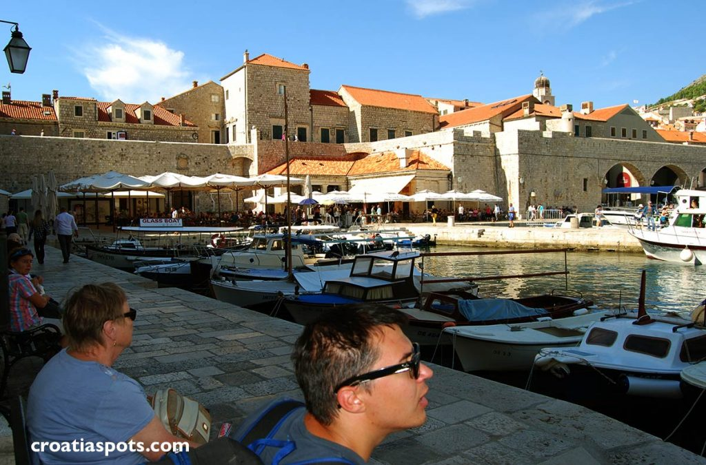Waiting for ferry in Dubrovnik Old Port