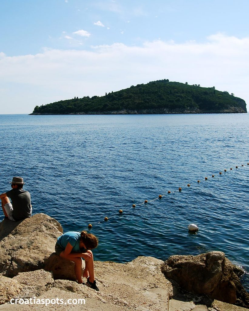 Lokrum island just off the Dubrovnik's coast