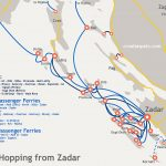 Map of island hopping from Zadar, Croatia