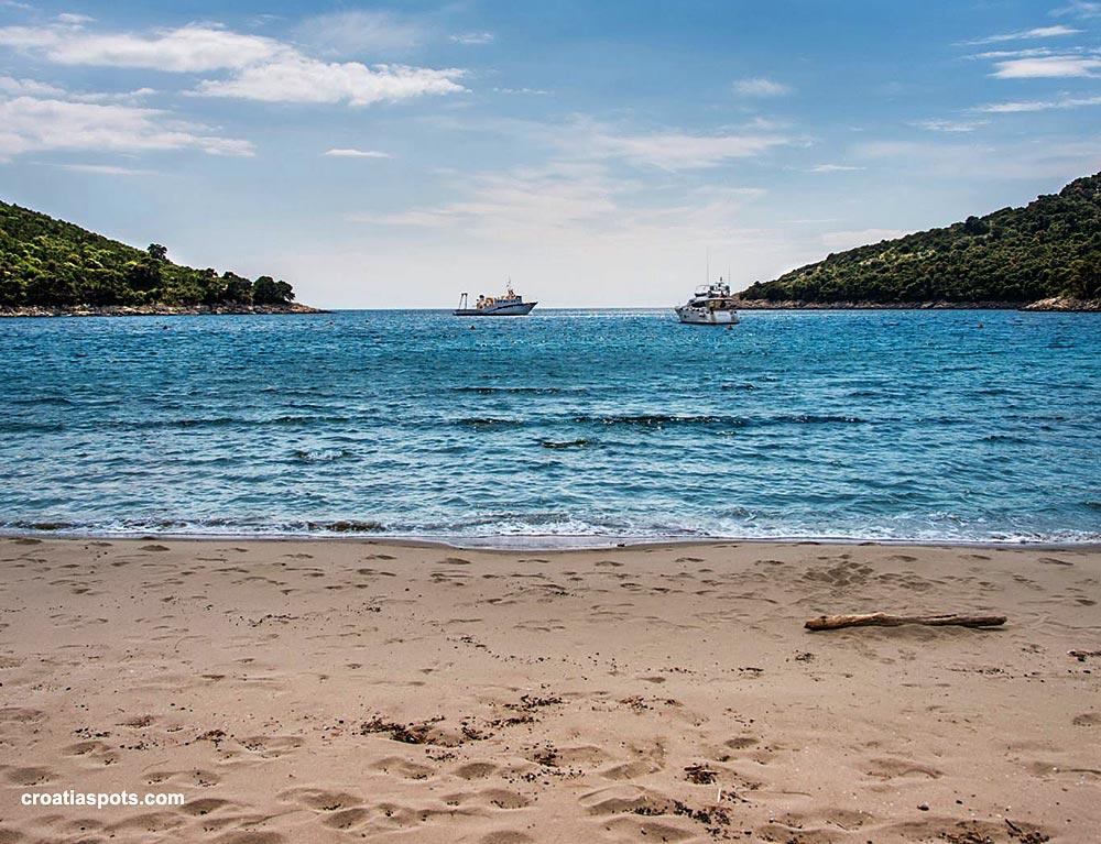 Saplunara beach, views, Mljet island