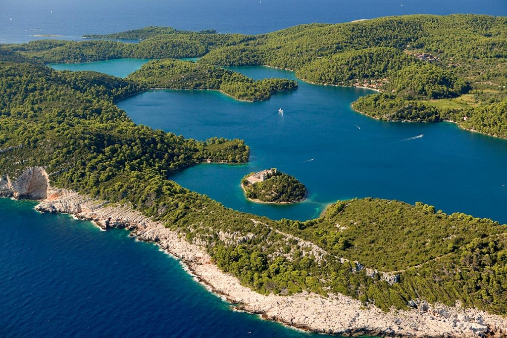 Two salted lakes on Mljet island