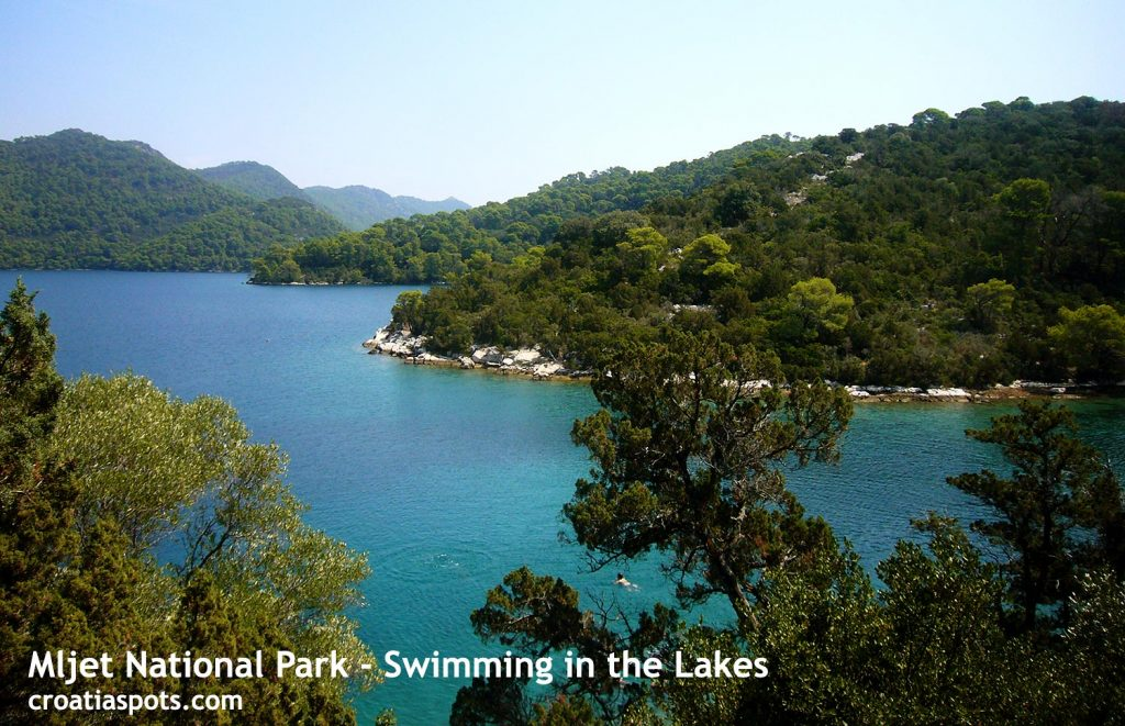 Swimming in the lakes of Mljet National Park