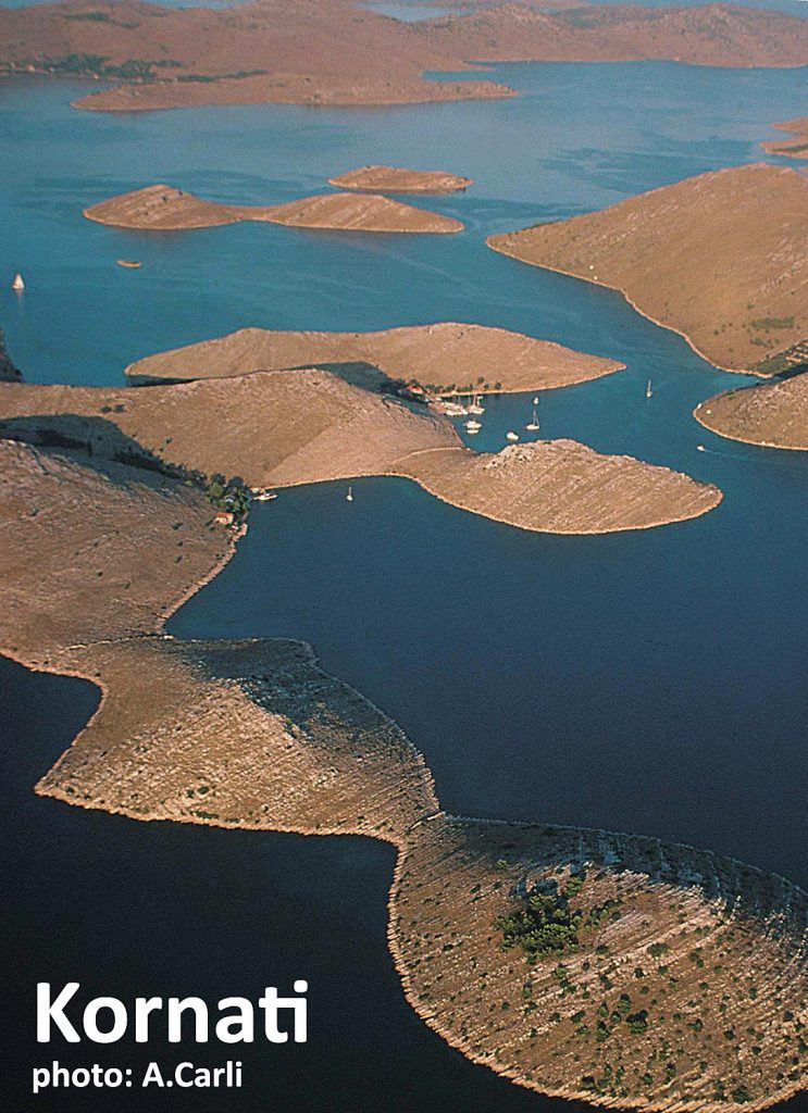 Kornati Islands,  an archipelago of numerous islands and islets are part of Kornati National Park