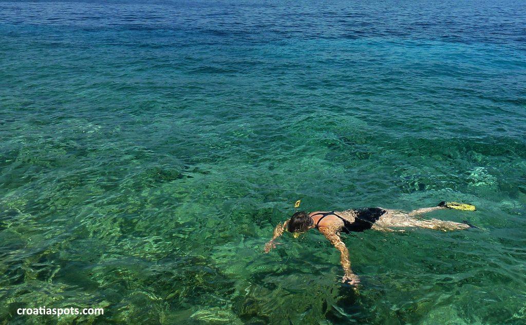 It's me, snorkeling