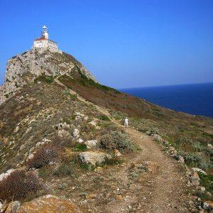 Trail to Palagruža Lighthouse