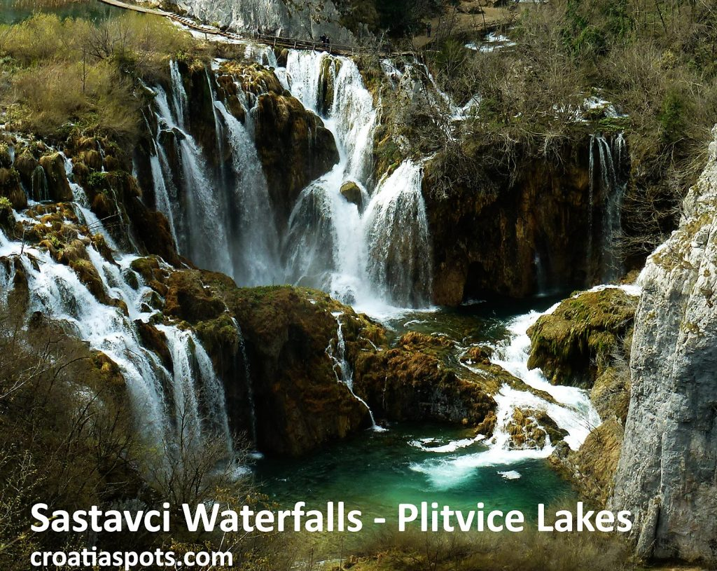 Views over Sastavci Waterfalls, Plitvice Lakes National Park