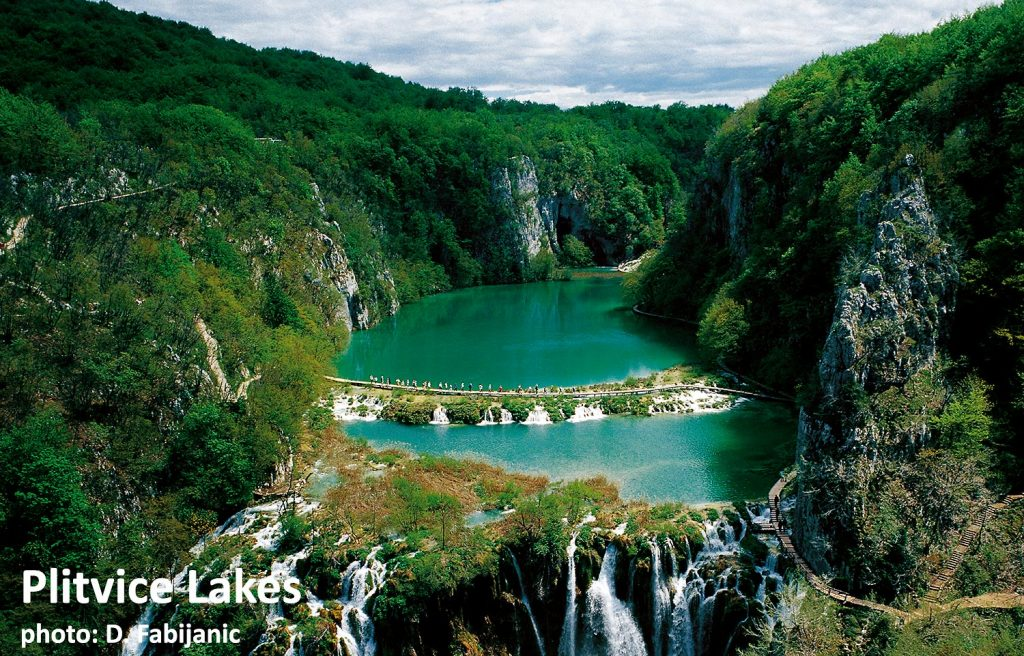 Plitvice Lakes National Park views over the Lakes and surrounding woodlands