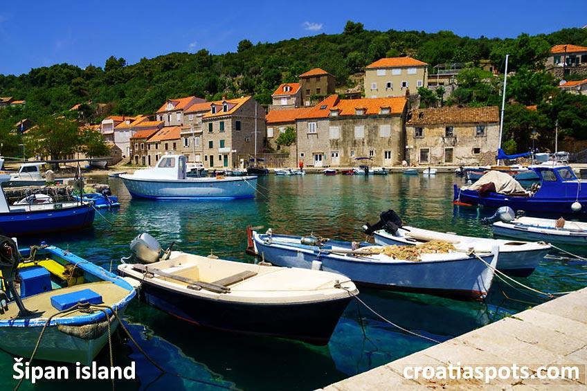Suđurađ panorama, Sipan Island, Croatia