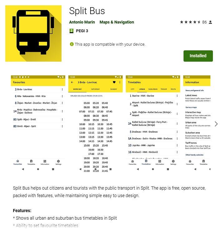 Split Bus App