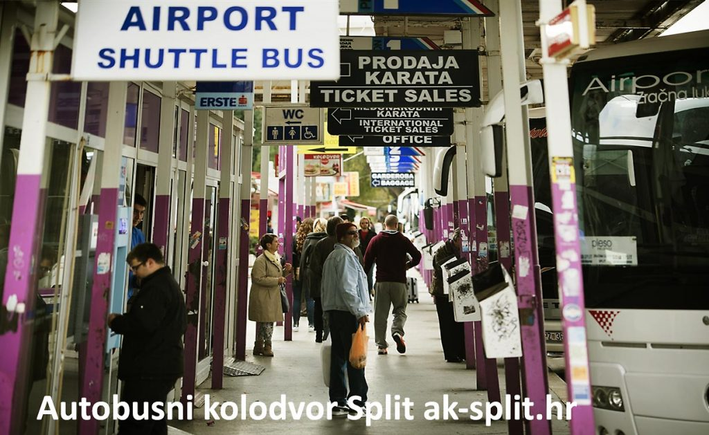 Split Bus Station With Map Luggage Storage Croatiaspots