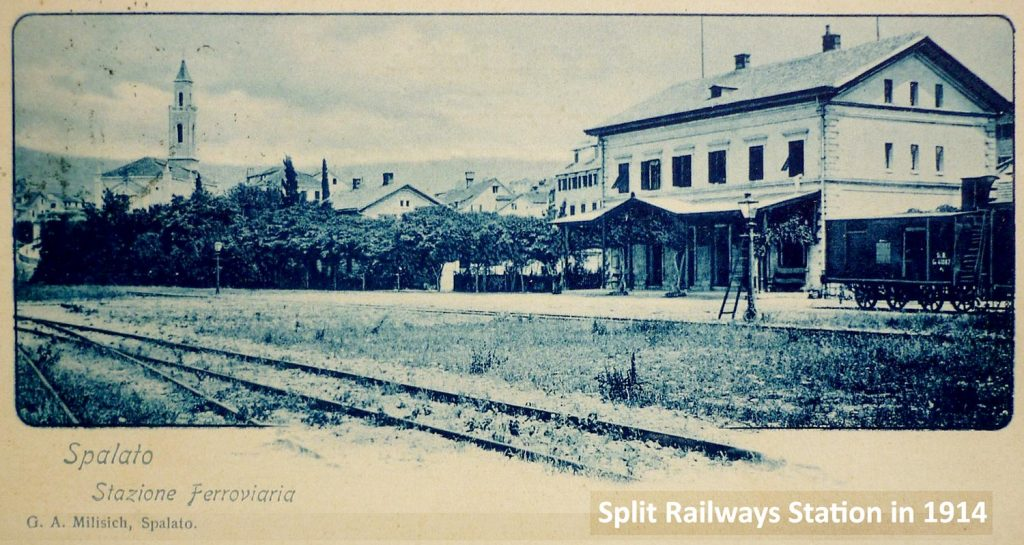Railway Station in Split in 1914